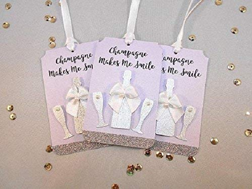 12 Luxury Gift OFFicial Tags Mini Bottle Max 80% OFF G Champagne Favor Hostess
