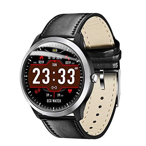 Nuevo N58 ECG PPG Smart Watch con ECG ECG Muestra Monitor De Ritmo Cardíaco Monitor De La Presión Arterial Pulsera Inteligente Femenina,A