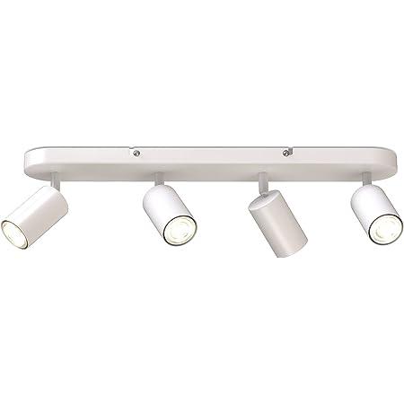 B.K.Licht I barre de spots I 4 spots pivotants & orientables I GU10 I blanc mat I livré sans ampoules