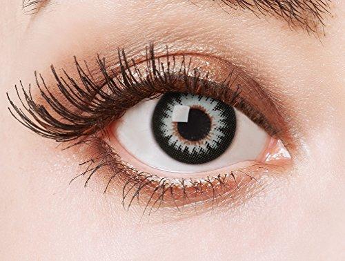 aricona Kontaktlinsen Farblinsen - Big Eyes Circle Lenses – bunte, farbige Manga Kontaktlinsen ohne Stärke – graue Anime Augenlinse, 12 Monatslinsen für Cosplay