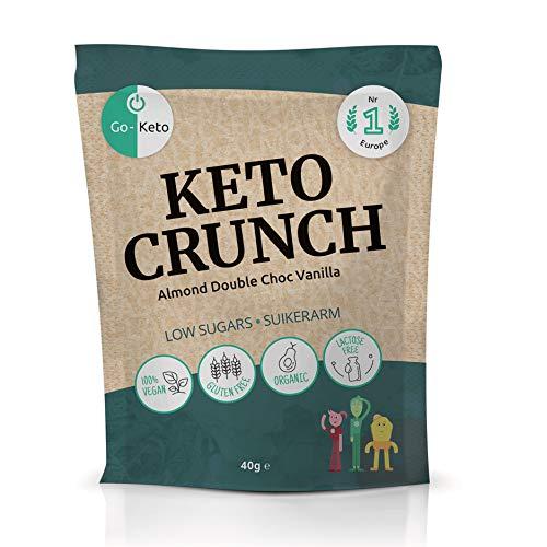 Go-Keto Crunch Almond Double Choc Vanilla (BIO) | 10 bolsas de 40...