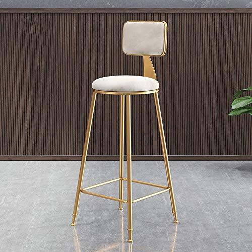 QYS kinderstoel barstoel gouden rugleuning kruk hoge subnet barkruk rood voorzijde ristorante lounge chair D1021
