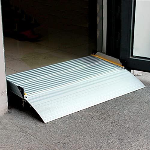 Rampe Rampa Alluminio Rampe per Sedie A Rotelle per Vialetto Strada Marciapiede Porte, Piccolo Portatile Rampe di Soglia per Aumento 2.4/4/6, Portante 200 kg (Size : 134x74x15cm)