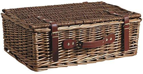 Caja de almacenamiento de mimbre de la maleta