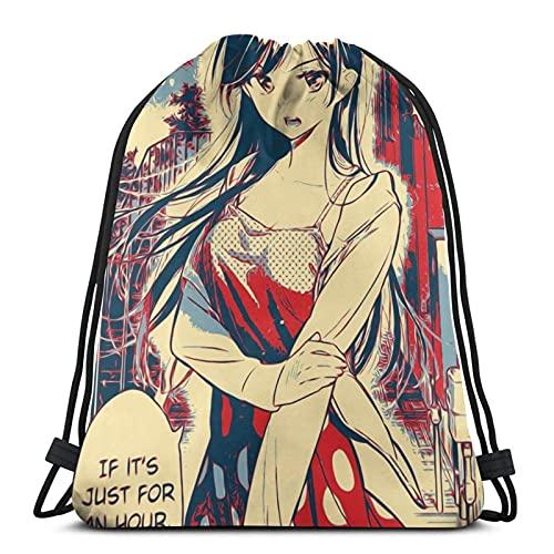 Vbanlya Alquiler de una novia con cordón mochila gimnasio bolsa playa fiesta Favor bolsas envolver bolsas bolsas de viaje bolsas ligeras y de gran capacidad