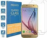 PREMYO 2 Piezas Cristal Templado Protector de Pantalla Compatible con Samsung Galaxy S6 Dureza 9H Bordes 2,5D Sin Burbujas contra Arañazos