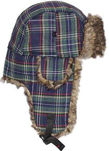 I Luv LTD Superbe Chapeau de Trappeur avec Click-Lock sécurisé à Green Tartan écossais