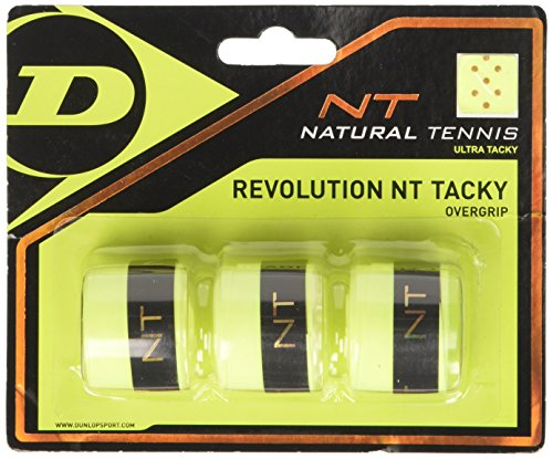 Dunlop Revolution NT Tacky - Set da 3 Nastri overgrip, Giallo, Misura Unica