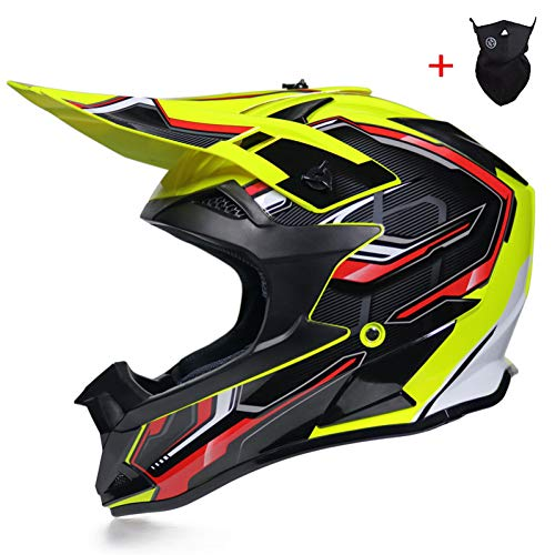 MTCTK Offroad Helm Sicherheit Vollgesichts Classic Bike Mountainbike Dh Rennhelm Motocross Capacetes Helm,M