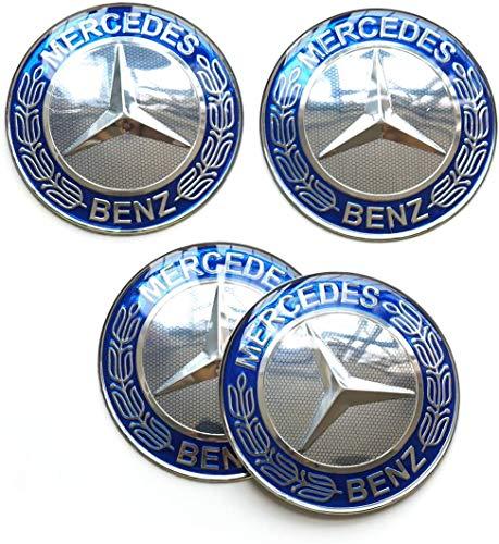 4Pcs Tapas De Cubo De Centro De Rueda para Mercedes-Benz 65mm, Coche Logo Emblem Wheel Center Rim Hub Caps Pegatinas Compatible