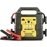 Suaoki Auto Starthilfe 1000A Spitzenstrom 24000mAh 12V / 24V Autobatterie Anlasser, Externes Akku-...