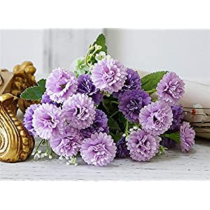 TRRT Fake Plants Small Lilac Flowers Bundle, Artificial Fake Silk Flowers for Home Party Garden Decoration Fake Flower (Color : Purple)
