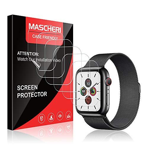 MASCHERI 6 Stück Schutzfolie kompatibel mit Apple Watch Series 6 5 4 SE 44mm & Series 3 2 1 42 mm Folie Blasenfreie kein Glas HD Soft Bildschirmschutzfolie