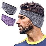 Lauzq Ear Warmer Headbands- Winter Sport Ear Muffs for Men & Women- Warm & Stretch Fleece Earmuffs for Running,Skiing,Cycling,Sports & Daily Wear-Full Ear Cover