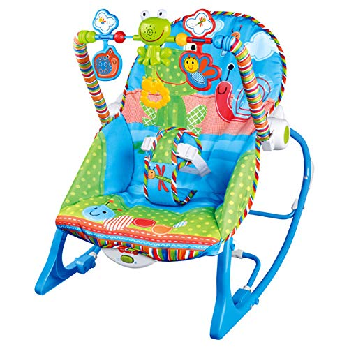 Best For Kids L68102 Schaukelsitz Wunderwelt 3-in-1 mit Massagefunktion und Musikfunktion (Froggy)