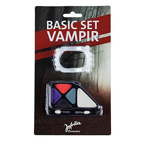 papapanda Vampir Schmink Set Make Up Vampirgebiss Halloween (Vampir Schminkset)