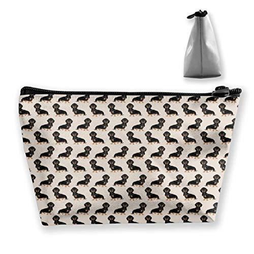 Cadeau idéal – Sac de rangement multifonction en forme de cygne blanc noir, sac de rangement trapézoïdal, petit sac de maquillage, trousse de toilette portable avec fermeture éclair