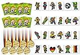 KSS großes Fußball - Set 24 Teilig 8 X Medaillen , 8 X Zauberblock , 8 X Tattoos für Kindergeburtstag als Mitbringsel , Mitgebsel , Vereine , Tombola ,Verlosung