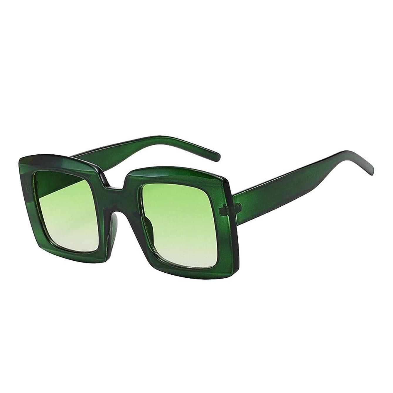 論文ジャンル話サングラス メンズ ユニセックスレトロスクエアサングラスはまぶしさを排除します有害な太陽光線遮断保護サイクリング釣り5色 スポーツ?アウトドアに最適 (Color : Green/green, Size : Free size)