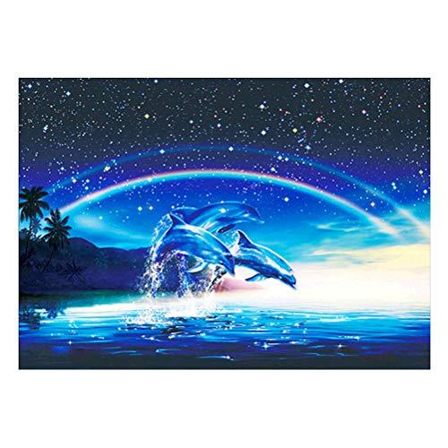 VOSAREA Dolphin 5D Kit de Pintura Diamante DIY Bordado de Diamantes Pintura de Punto de Cruz Hecho A Mano Decoración de Pared Kits de Arte de Impresión