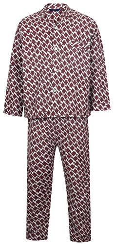 Somax - Pijama - para Hombre Rojo Wine XXL/122 cm pecho/127 cm Cintura