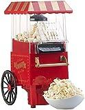 Rosenstein & Söhne Popkornmaker: Retro-Heißluft-Popcorn-Maschine, Miniatur-Rollwagen-Optik, 1.200 Watt (Heißluft Popcorn Maker)