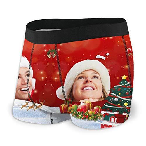 DIYBESTGIFT Calzoncillos Personalizados para Hombres Calzoncillos Personalizados Personalizados Foto Impresa Calzoncillos Cortos para Hombres