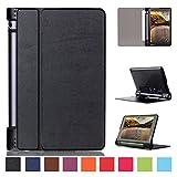 Kepuch Custer Hülle für Lenovo Yoga Tab 3 8 inch YT3-850M YT3-850F YT3-850LC,Smart PU-Leder Hüllen Schutzhülle Tasche Hülle Cover für Lenovo Yoga Tab 3 8.0 850F - Schwarz