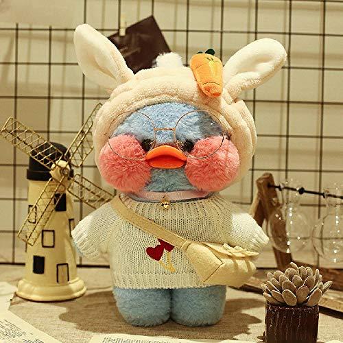 YUJY Plüsch Spielzeug Kawaii Cafe Sky Blue Duck Plush Toy Soft Animal Cartoon niedliche Ente Plüsch Baby Boy Mädchen Spielzeug (30cm)