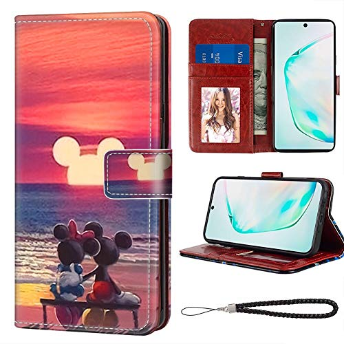 DISNEY COLLECTION Mickey Mouse Sunset Samsung Galaxy Note 10 (2019) (6.3 Inch) Wallet Case with ID Slot