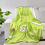 Cute Matcha Love Tea So Much Kawaii Throw Blanket Quilt Bedspread Fleece Flannel Soft Couch Home Decor Luxurious Warm Cozy for Spring Summer Autumn (80'x60' INCH for Adult)