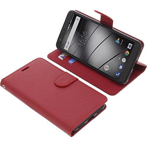 foto-kontor Tasche für Gigaset GS370 / GS370 Plus Book Style rot Schutz Hülle Buch