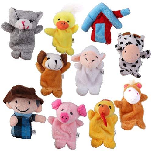 Toyvian 10pcs Finger Puppet Toy for Kids Farm Animals Puppets Finger Puppet Toy Set
