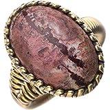 StarGems naturel Jade de tache 925 anneau d'argent de Sterli