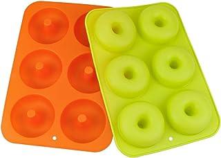 2 moldes de silicona para donuts, 6 cavidades, molde para