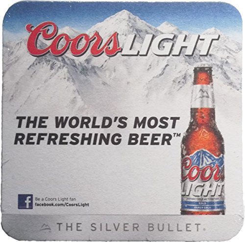 Coors Light Cardboard Coaster Pack of 25
