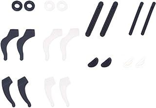 TwinYR 10 Pairs Round Strip Silicone Eyeglass Retainer Grips Holder, Soft Comfortable, Adhesive Anti-slip Nose Pads, Sport...