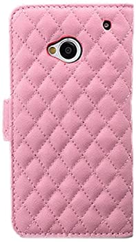 iCues | Compatible with HTC One M7 | Leather Wallet Rose |[Screen Protector Included] Case Cover Shell Shookproof