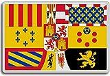 House Of Bourbon (1761-1868), Historic Flags of Spain fridge magnet - Calamita da frigo