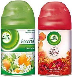 Airwick Freshmatic Refill - Orange Blossom - 250 ml & 'Scents of India' Freshmatic Air Freshner Refill, Aromas of Kashmir...