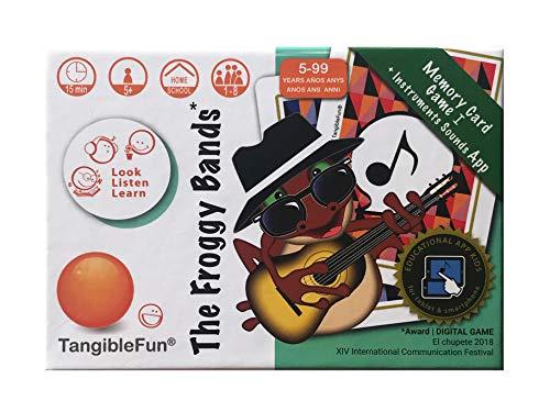 TangibleFun   The Froggy Bands   Juego de Cartas Educativo con App para iPad, Tablet y Smartphones de Sonidos Instrumentos Musicales y 'Bingo Sounds'