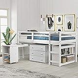 Low Twin Size Loft Bed, Rockjame...