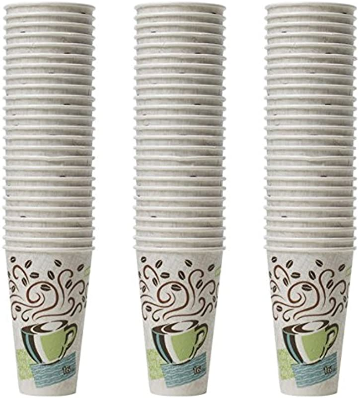 Dixie Perfectouch Insulated Paper Hot Cup Coffee Haze Design 75 Count 16oz