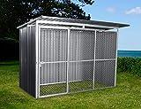 Dancover Canil para Perros y Perrera Exterior 2,6x1,6x1,8m ProShed®, Antracita