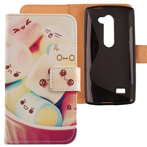 Lankashi PU Flip Leder Tasche Hülle Hülle Cover Schutz Handy Etui Skin Für LG Leon 4G LTE H340N C50 / Optimus Leon C40 Lovely Design