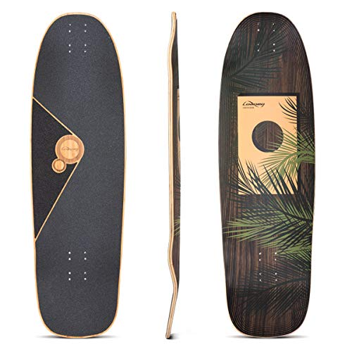 Loaded Boards Omakase Bamboo Longboard Skateboard Deck (Palm Graphic)