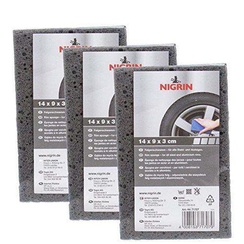 Preisvergleich Produktbild Nigrin 3X 71707 Felgenschwamm 1 Stück