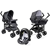 Trio Sprint Black Poussette + Nacelle + Siège-auto Cool grey - Chicco