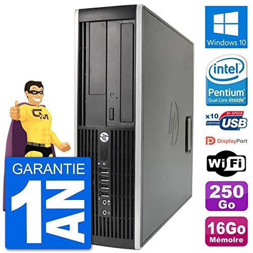 HP PC Compaq 6200 Pro SFF Intel G630 RAM 16 GB Festplatte 250 GB Windows 10 WiFi (überholt)
