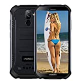 DOOGEE S40 4G Moviles Libres Resistente IP68/IP69K Impermeable Smartphone 4650mAh, Android 9.0 3GB+32GB Telefono Movil Todoterreno 5.5' Cámara 8MP+5MP Dual SIM, NFC Face ID Negro